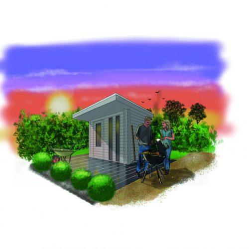 Kunststof tuinhuis Liv