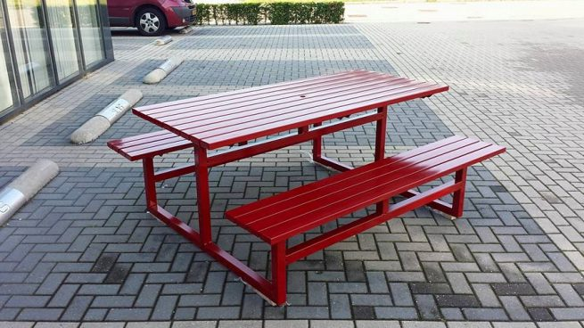 picknicktafel staal